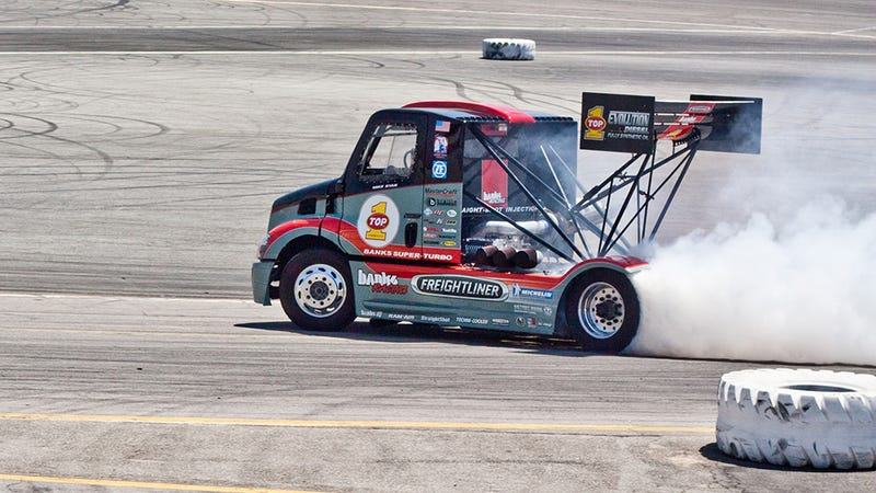 Up close with Gale Banks' Super-Turbo Pikes Peak Freightliner