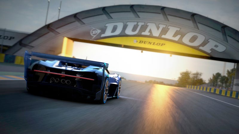 'Bugatti Vision Gran Turismo Concept: The Future Of Bugatti Looks Terrifyingly Awesome' from the web at 'http://i.kinja-img.com/gawker-media/image/upload/s--165w5ZSk--/c_scale,fl_progressive,q_80,w_800/1430362454167957544.jpg'