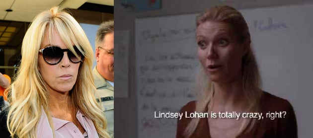 Dina Lohan Wants To Sue Glee For Making Fun Of Lindsay