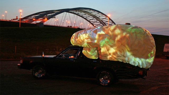 Braincar Records Its Journeys For Intense Nighttime Lightshows