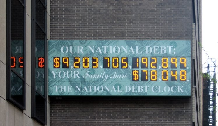 National Debt Clock To Get Most Depressing Upgrade Ever