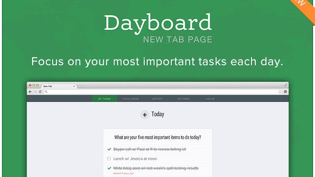 Dayboard Uses Chrome's New Tab Page To Keep You Focused on Your To-Dos