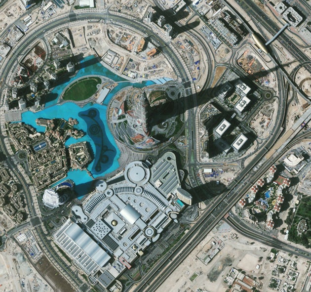The Tallest Building In the World From the Highest Resolution Satellite Around the World