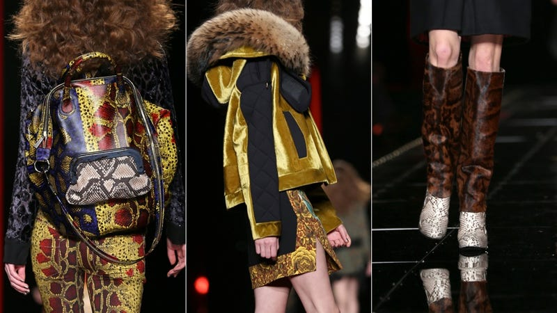 WHAT WAS THAT I CAN'T HEAR YOU OVER THE CAVALLI RUNWAY SHOW
