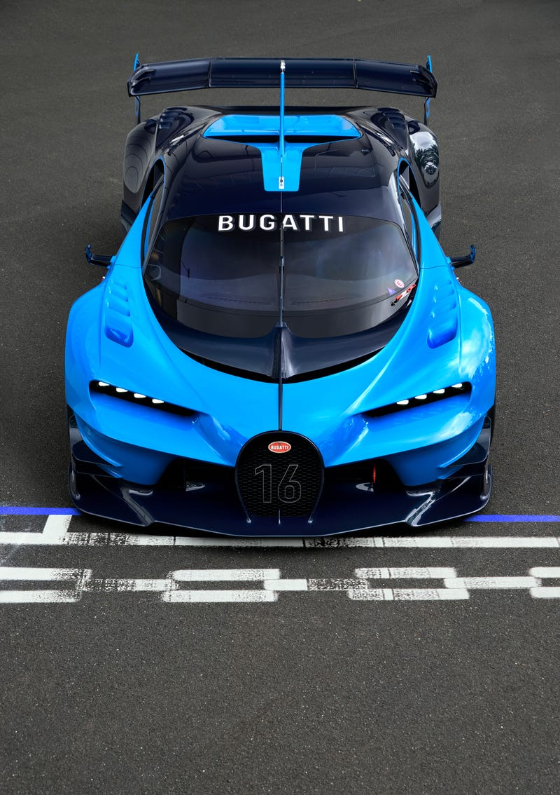 'Bugatti Vision Gran Turismo Concept: The Future Of Bugatti Looks Terrifyingly Awesome' from the web at 'http://i.kinja-img.com/gawker-media/image/upload/s--19E5Gdec--/c_scale,fl_progressive,q_80,w_800/1430362453762664744.jpg'
