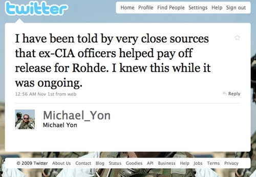 Did the New York Times Lie about Paying a Ransom for David Rohde's Release?