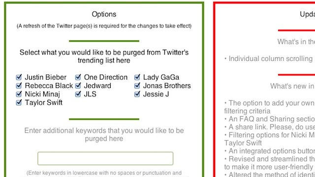 Purge Twitter Trends Banishes Celebrity Trends from Your Feed