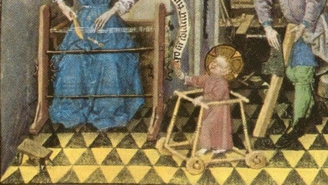 Behold, the divine baby walker of Jesus Christ