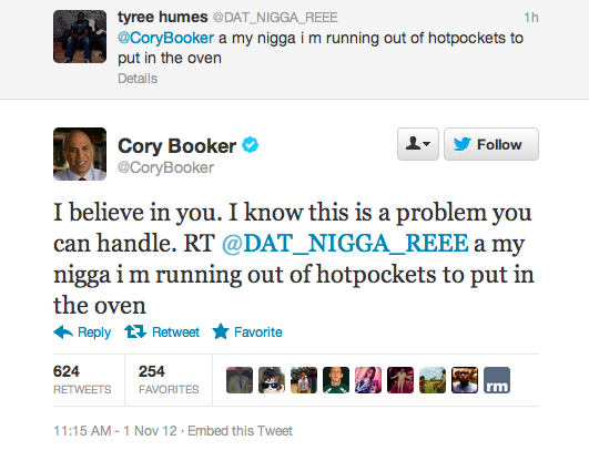 Newark Mayor Cory Booker Continues to Be the Coolest Politician Around