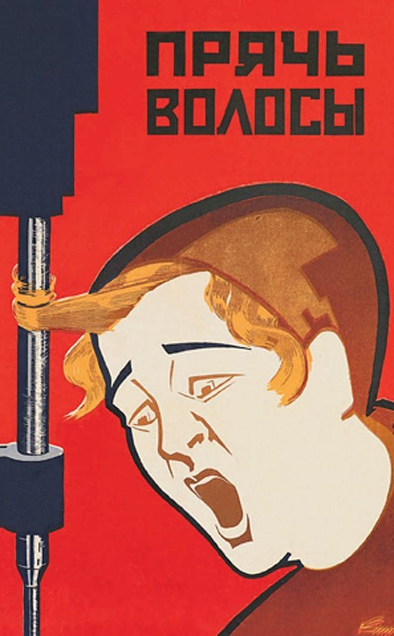 Soviet Accident Prevention Posters Depict A Dozen Gruesome Ways To Die