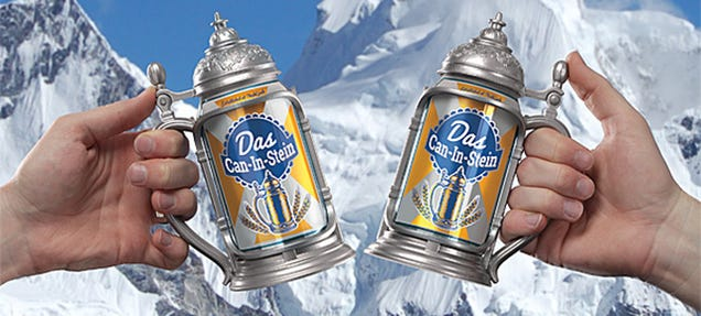 Drink Any Beer Like It's ​Octoberfest With This Stein-Style Can Holder