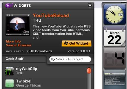 Download of the Day: Yahoo Widgets 4 (Windows/Mac)