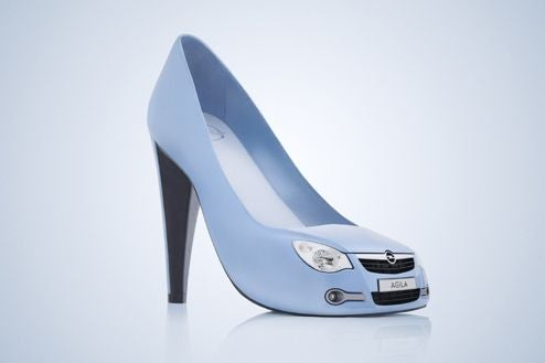 Opel Targets The Ladies With Shoes And Oh Yeah, An Agila To Match