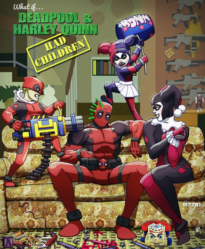 What If Deadpool And Harley Quinn Had Children?