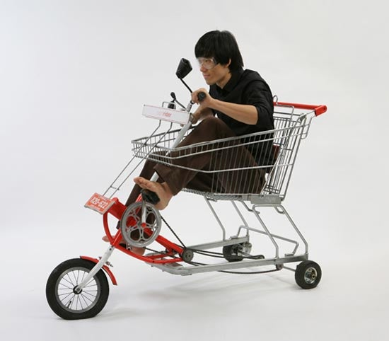 Shopping Cart/Bike Hybrid is the Ultimate Hobo Vehicle