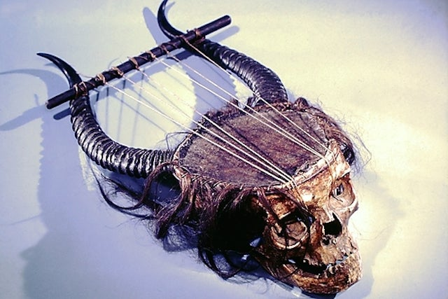And Now, A Lyre Made From A Human Skull