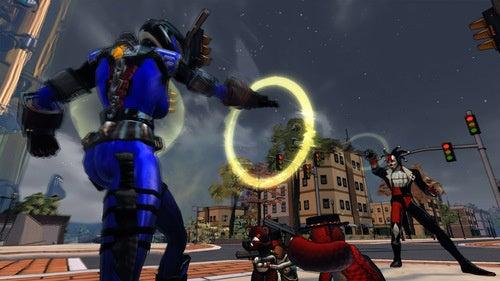 Giant Evil Robot Teddy Bear Attacks Champions Online