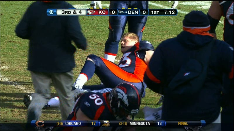Something Appears To Be Wrong With Chris Kuper's Ankle