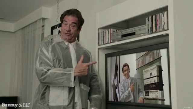 Huey Lewis and Weird Al Reenact Classic American Psycho Scene in Honor of Sports' 30th Birthday