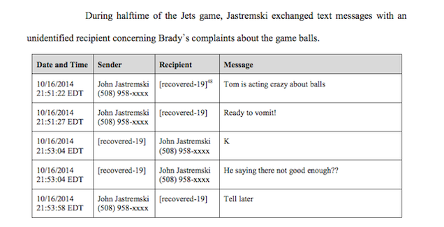 The Hilarious, Brady-Bashing Texts Sent By The Pats' Ball-Deflators