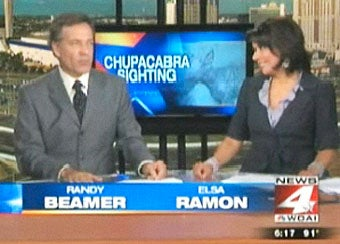 News Anchor Admits Chupacabra Story Is a Naked Ploy for Ratings