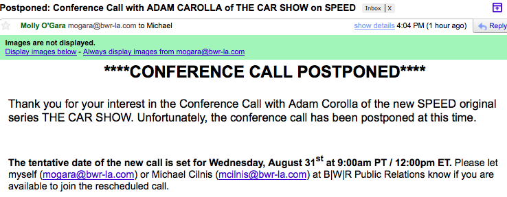 SPEED postpones Adam Carolla conference call after homophobic rant