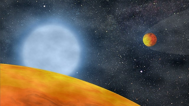 These tiny, charred planets dove inside their dying star...and survived