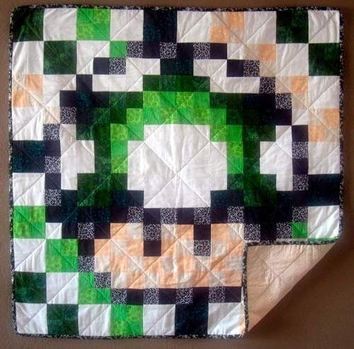 Mario 1Up Quilt, as Made by a Dude