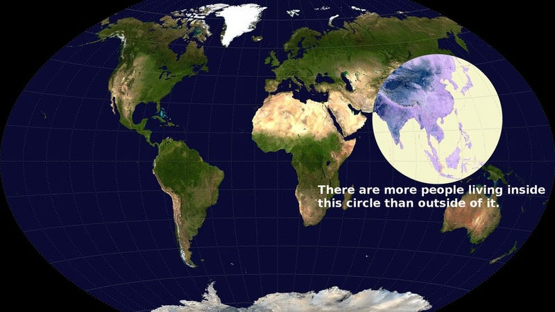 The Most Crowded Part of the Whole World Fits in This One Small Circle