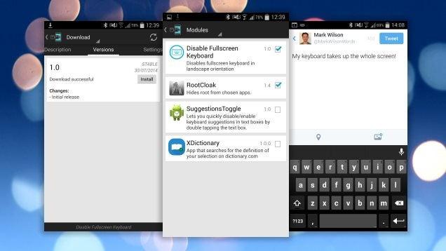 Disable Fullscreen Keyboard Reduces Keyboard Size In Landscape Mode