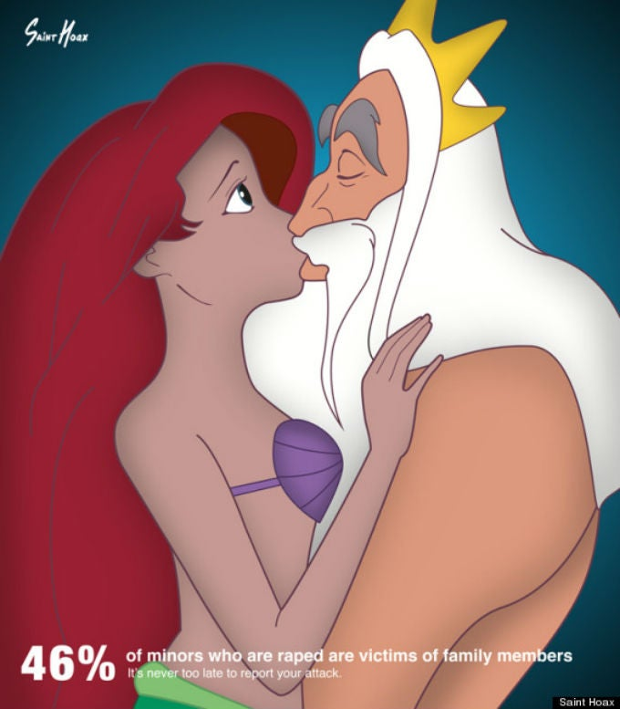 Artist Uses Disney Princesses in Rape Awareness Posters