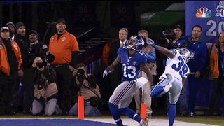 Odell Beckham, Jr. Makes Circus Catch Of The Year For A Touchd