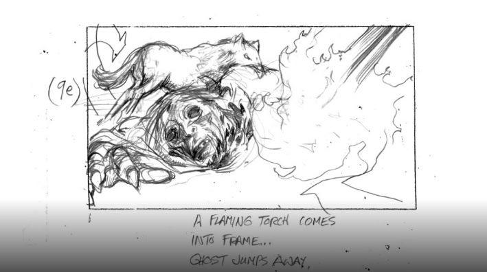 Concept art of the strangest creature on last night's Game of Thrones
