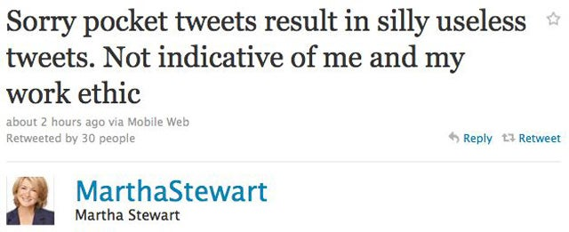 Martha Stewart Apologizes For Inadequate Tweets