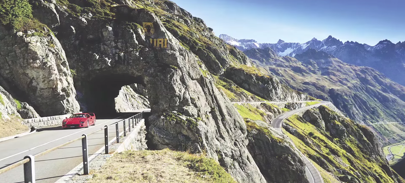 Driving A Ferrari F40 In The Swiss Alps: There Is Nothing Better