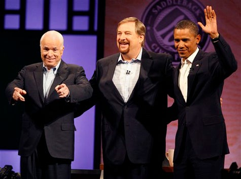 Obama And McCain Meet Rick Warren For The Betterment Of Rick Warren