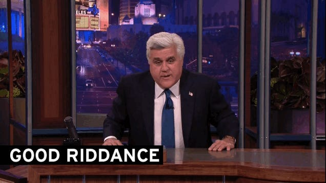 Jay Leno Says Goodbye (Again)