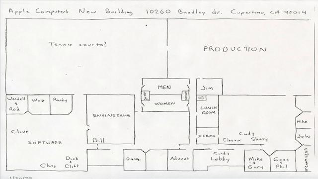 An Unearthed, Hand Drawn Sketch of Apple's 70s HQ