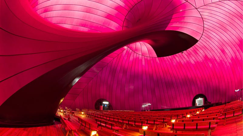 An Inflatable Concert Hall Inspired By… Giant Plums?