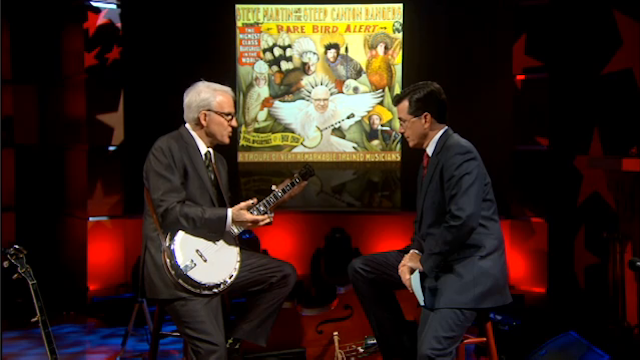 Steve Martin (and His Bluegrass Band) Sit Down with Stephen Colbert