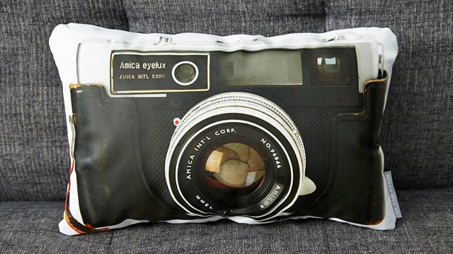 Vintage Camera Pillows Let You Rest Your Head On Defunct Technology