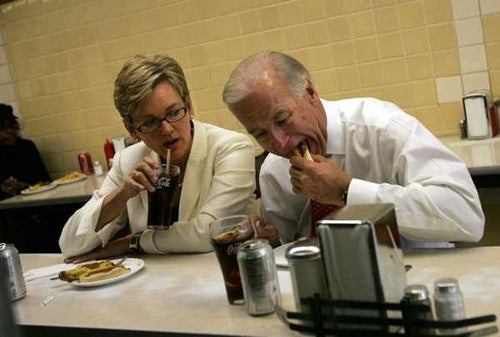 Joe Biden Chows Down In Detroit