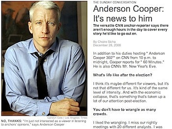 Anderson Cooper 'Not Interested' In Rachel Maddow's Show