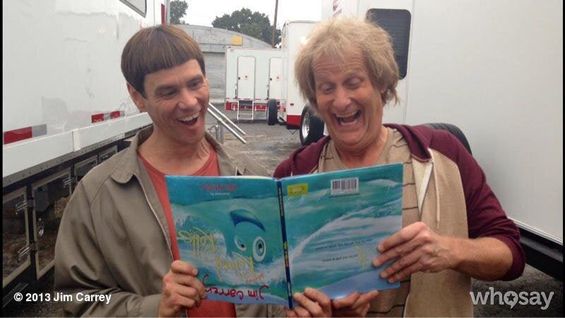 Jim Carrey and Jeff Daniels Reunite on the Set of Dumb and Dumber To