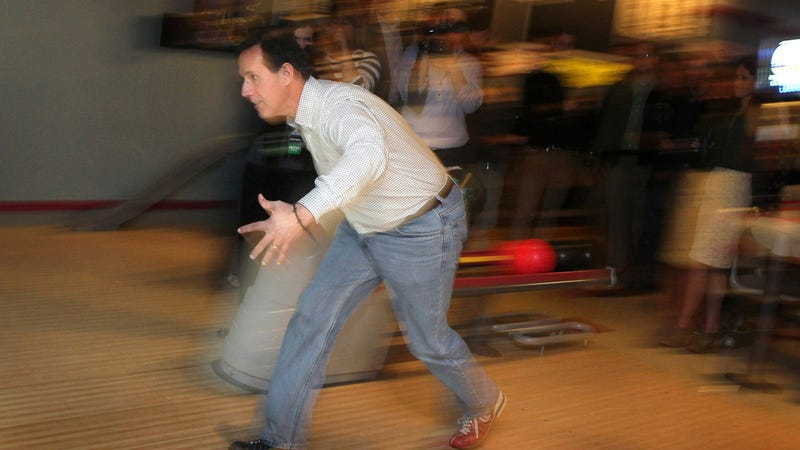 When the Going Gets Tough, Mitt Romney Wins Delegates and Rick Santorum Goes Bowling