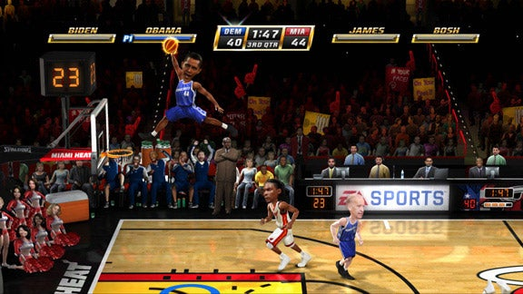 President Obama Is On Fire (In NBA Jam)!