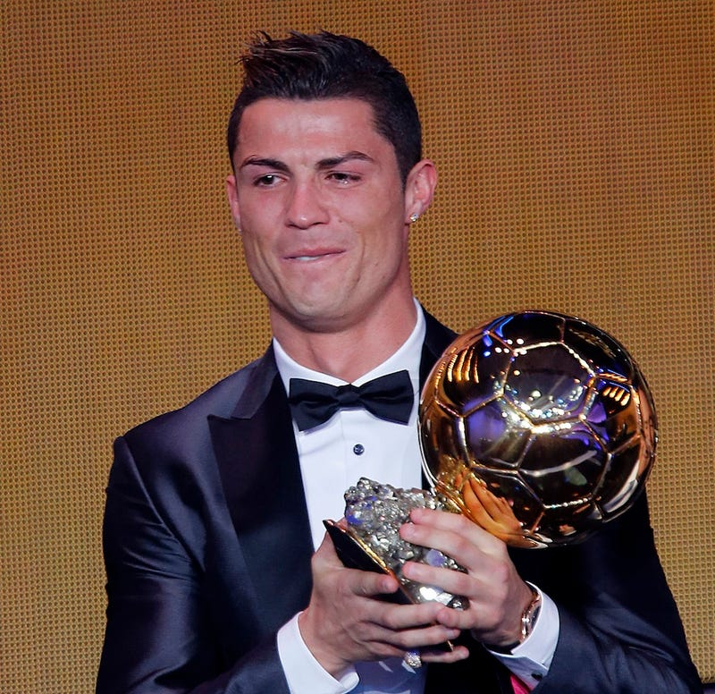 Cristiano Ronaldo Cries After Winning Ballon D'Or