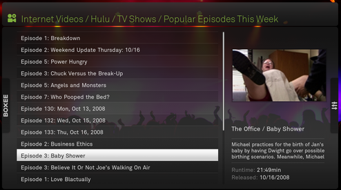 Boxee Media Center Now Streams Hulu, Comedy Central and CBS to Apple TV