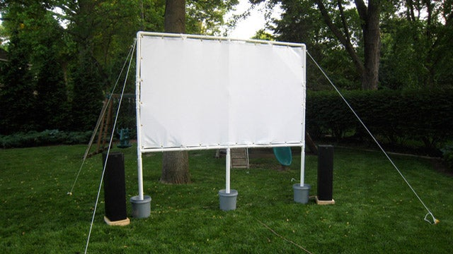 outdoors backyard movie screen projector screen 25 edit invite