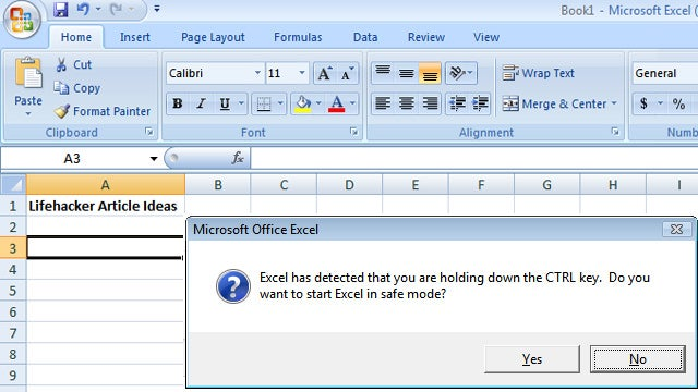 Troubleshoot Microsoft Office Crashes By Loading in Safe Mode